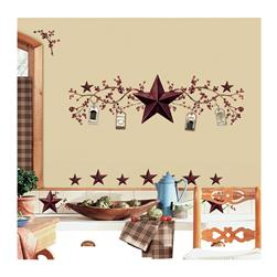 Country Stars & Berries Wall Decals