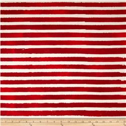 Artisan Batiks Color Source Horizontal Stripe Red