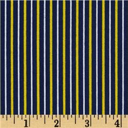 Fan-Tastic Pinstripe Navy/Yellow
