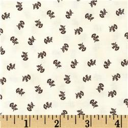 Penny Rose 19th Century Shirtings Floral Brown