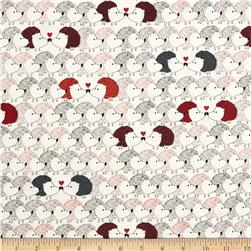 Kanvas Hedgehog Heaven Hedgehog White Fabric