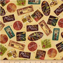 Hot Little Dish Labels Cream