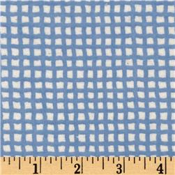Riley Blake Bitty Baby Flannel Grid Blue/White Fabric