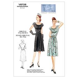 Vogue Misses' Dress and Belt Pattern V8728 Size BB0