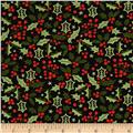 Moda Berry Merry Holly Charcoal