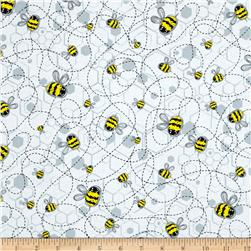 Kanvas Bumble Bumble Buzzing Bee White