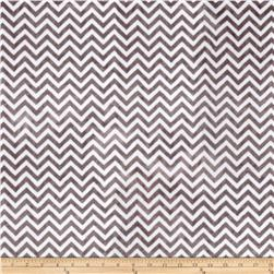 Minky Cuddle Mini Chevron Charcoal/Snow Fabric