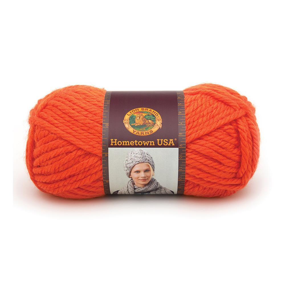 Lion Brand Hometown USA Yarn (133) Syracuse Orange