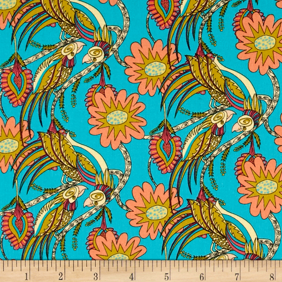 Flock Together Chatting Birds Contrast Fabric by Westminster in USA