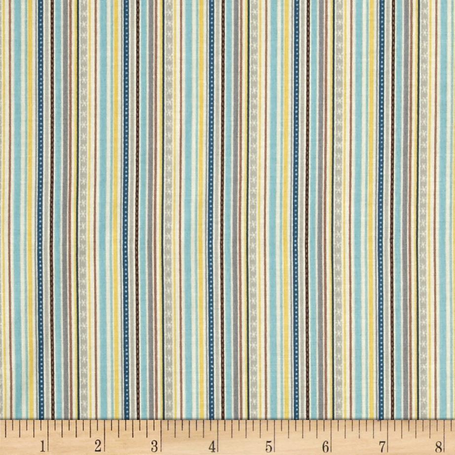 Riley Blake Little Flyers Stripe Blue