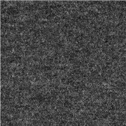 Rayon Poly Brushed Heather Rib Knit Charcoal