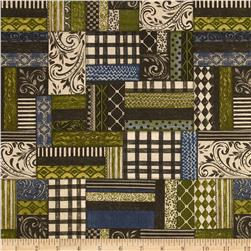 Farm Chic Patchwork Blue/Green/Cream