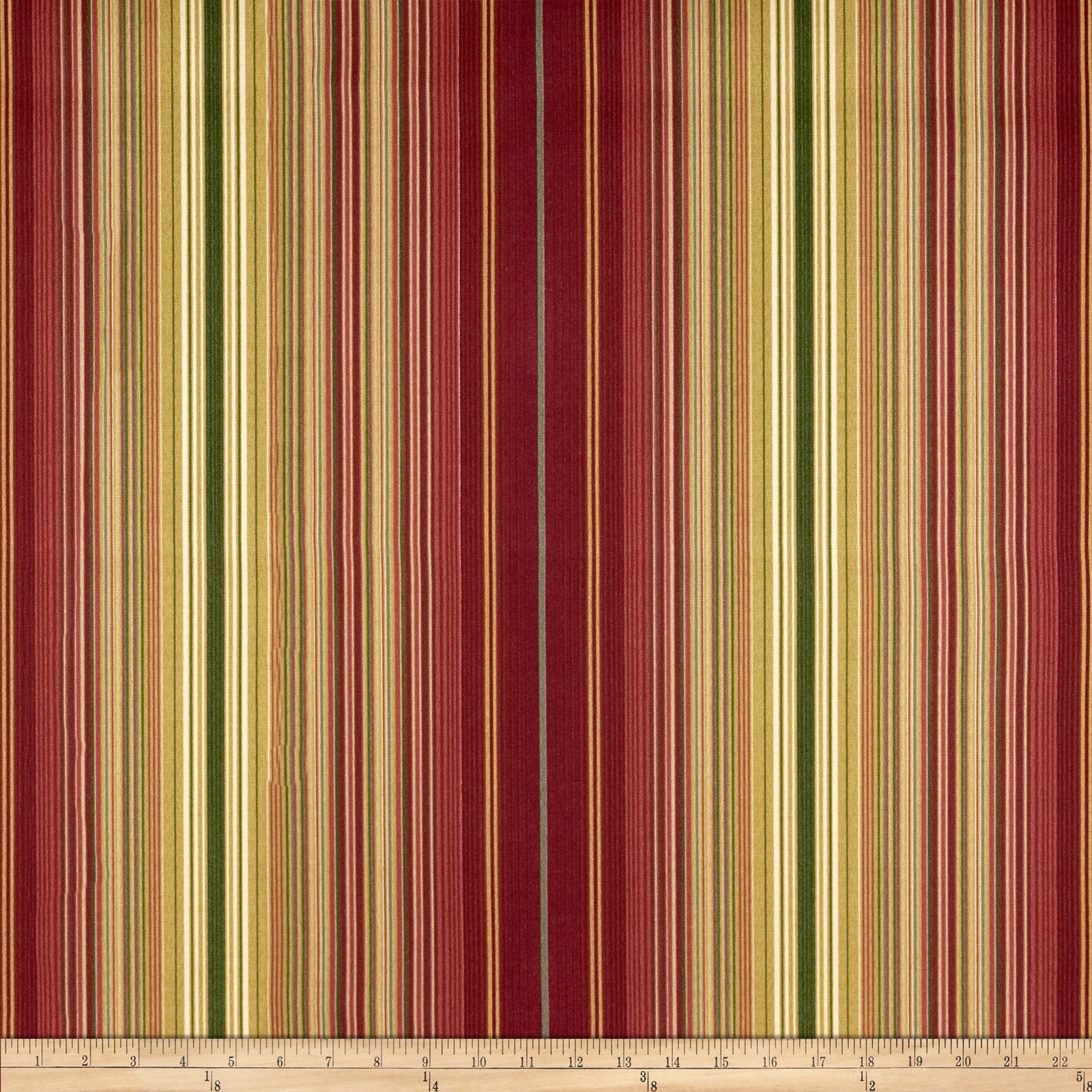 Waverly Sun N Shade Serene Stripe Cinnabar Fabric