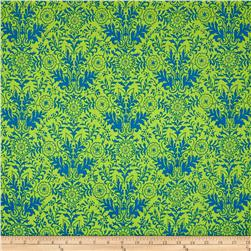 Ink & Arrow Ellery Lyla Damask Green/Royal