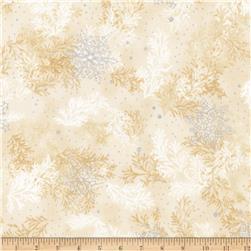 Kaufman Holiday Flourish Metallic Branches Ivory