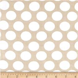 Kaufman Little Prints Double Gauze Dots Natural/White