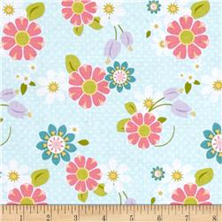Riley Blake Dream and a Wish Floral Blue