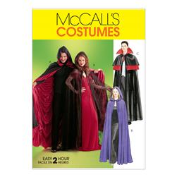 McCall's Misses'/Men's/Teen Boys' Lined & Unlined Cape Costumes Pattern M4139 Size OSZ