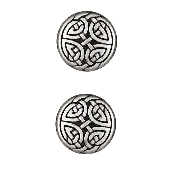 Metal Button 7/8'' Eternal Heart Antique Silver