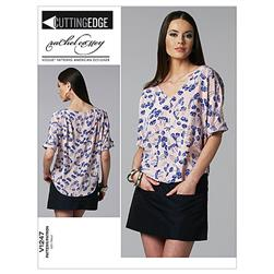 Vogue Misses' Top and Skirt Pattern V1247 Size AA0