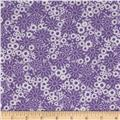 Baby Talk Splash Floral Purple/White