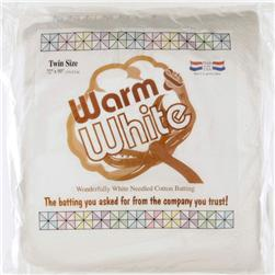 Warm & White Cotton Batting (72'' x 90'')