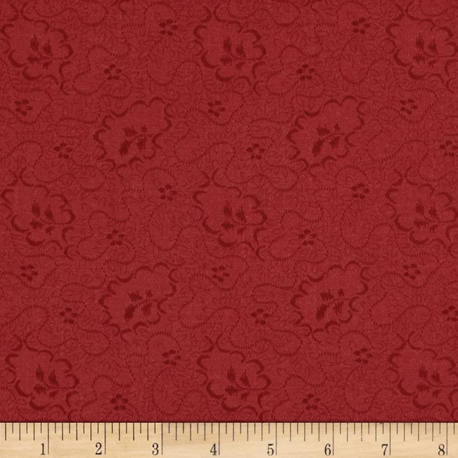 Moda Crazy for Red Meandering Vines Tonal Warm