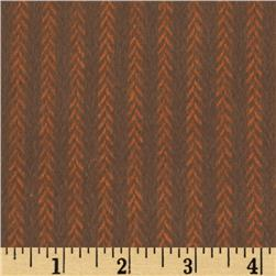 Primo Plaids Harvest Flannel Vine Stripe Dark Orange