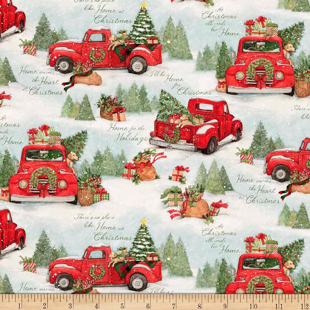 A Home For Christmas.Susan Winget Home For Christmas Red Truck Multi