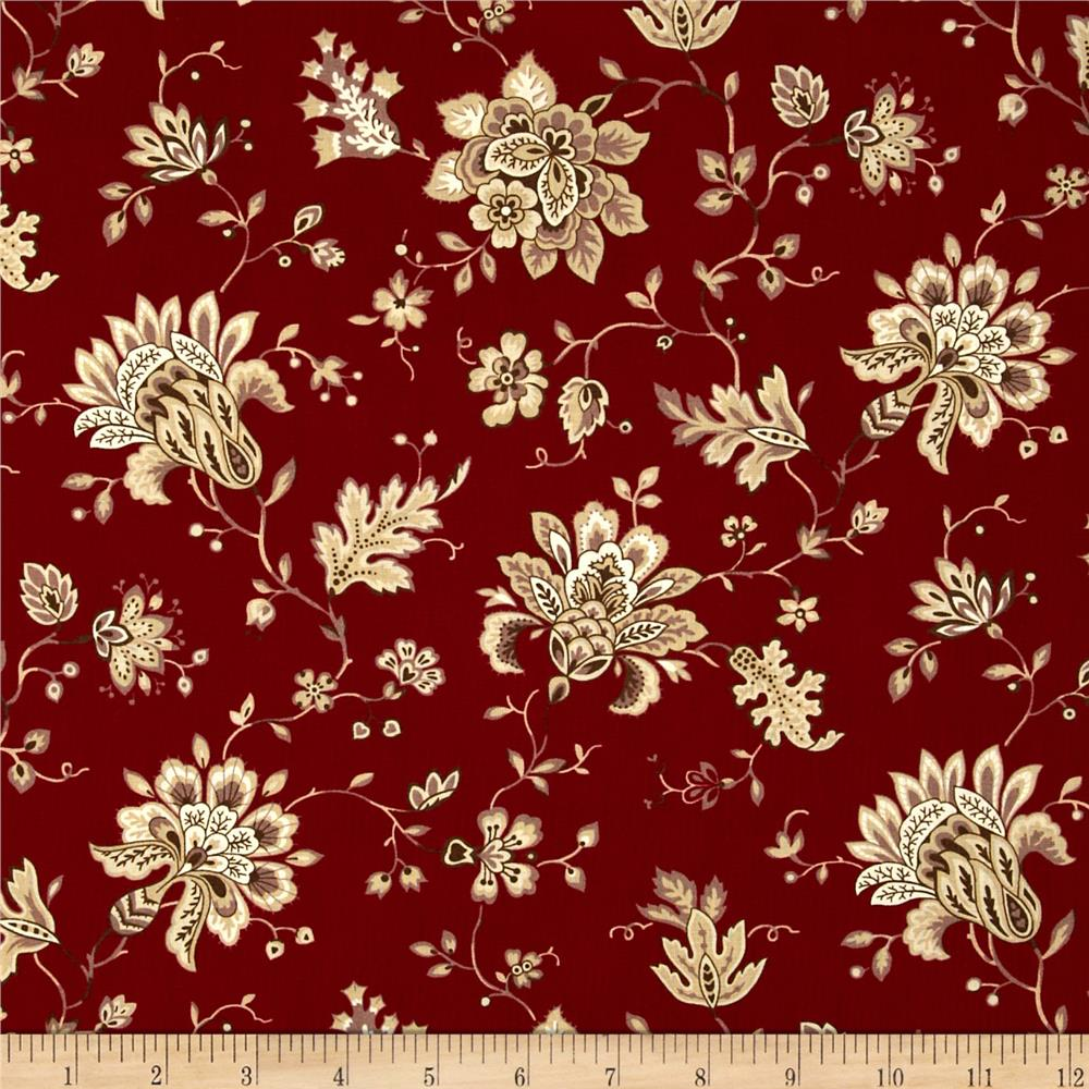 Home For the Holidays Holiday Branches Large Floral Red