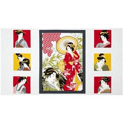 Diary of a Geisha Panel Grey