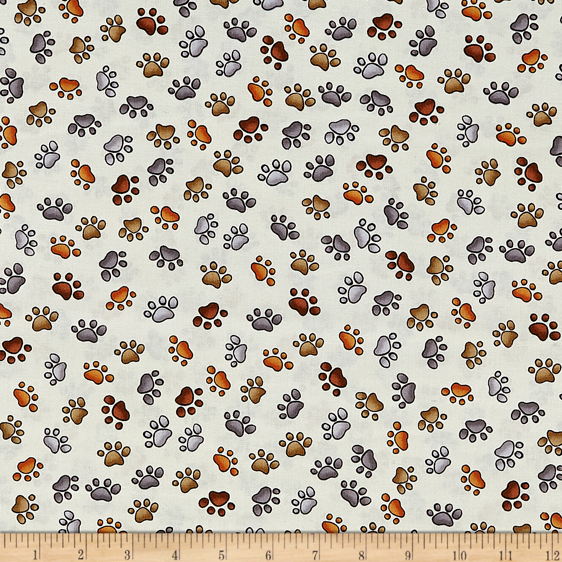 Loralie Designs Dear Doggie Delight Puppy Paws Bone Fabric