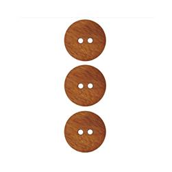 Dill Wooden Button 11/16'' Brown