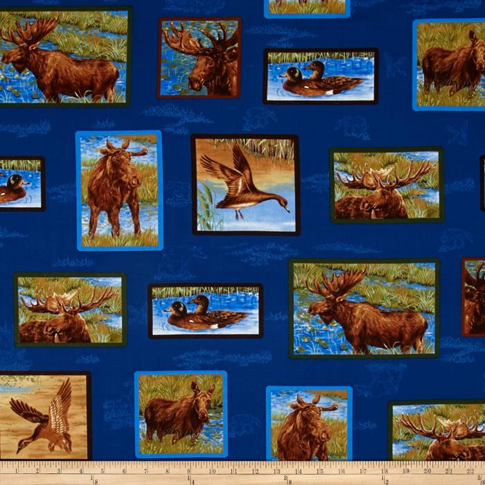 Mooselake Moose Tiles Blue/Green