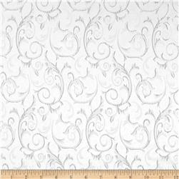 Scroll Brocade White