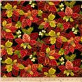 Holiday Opulence Poinsettia Black