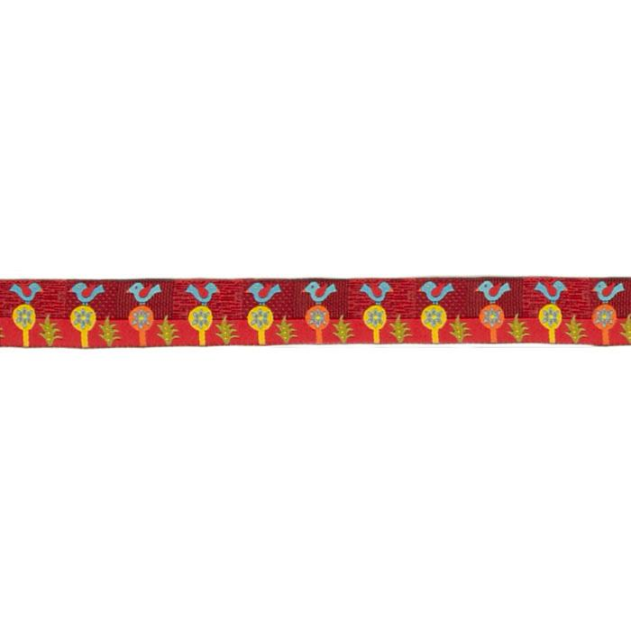 "7/8"" Sue Spargo Folkloric Ribbon Blue Bird"