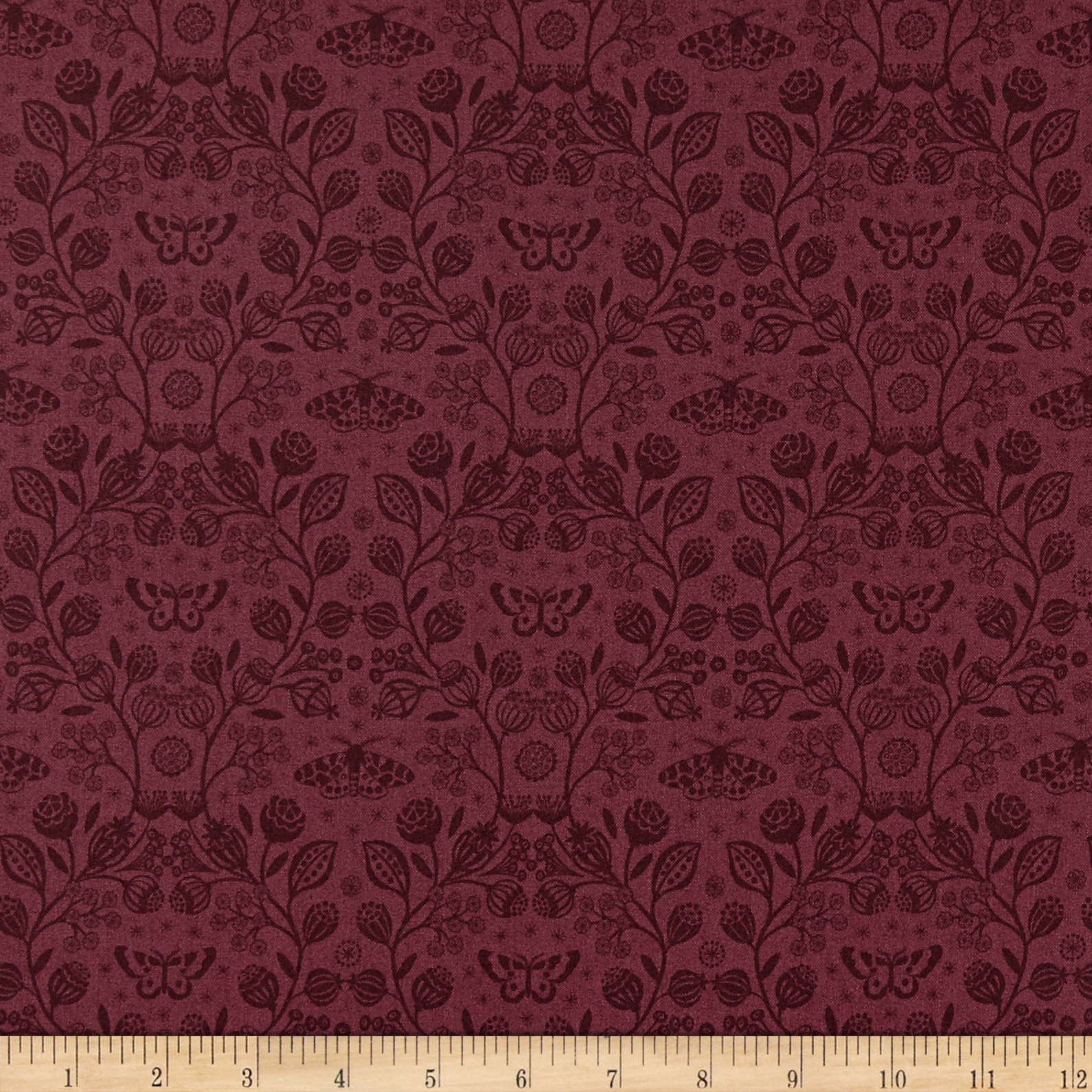 INOpets.com Anything for Pets Parents & Their Pets Lewis & Irene Winter Garden Winter Garden Mono Claret Fabric