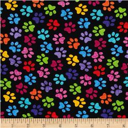Timeless Treasures Sketch Paws Black Fabric