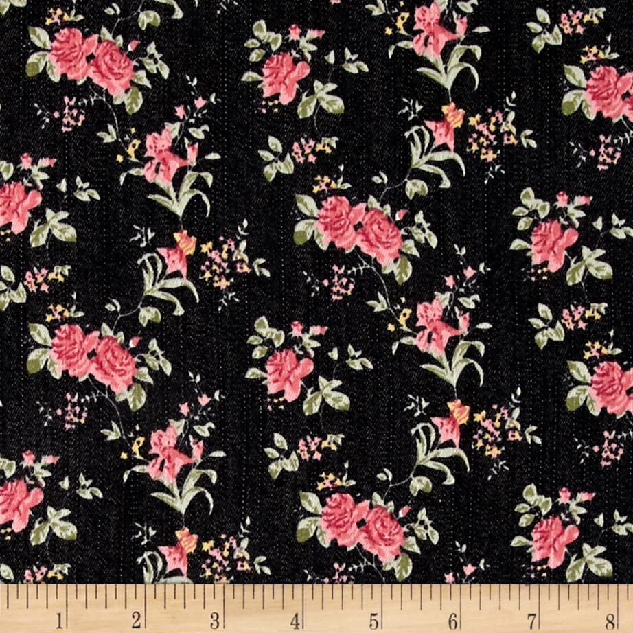 Printed Stretch Denim Joie Floral Pink