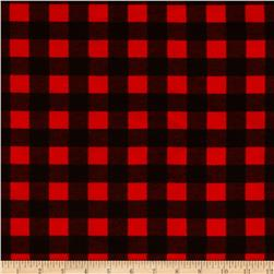 Flannel Buffalo Plaid Red/Black Fabric