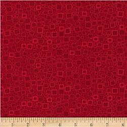 Poppy Panache Squares & Dots Dark Red