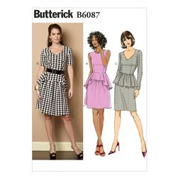 Butterick Misses' Dress Pattern B6087 Size A50