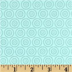 Riley Blake Fly Aweigh Flannel Circles Aqua Fabric