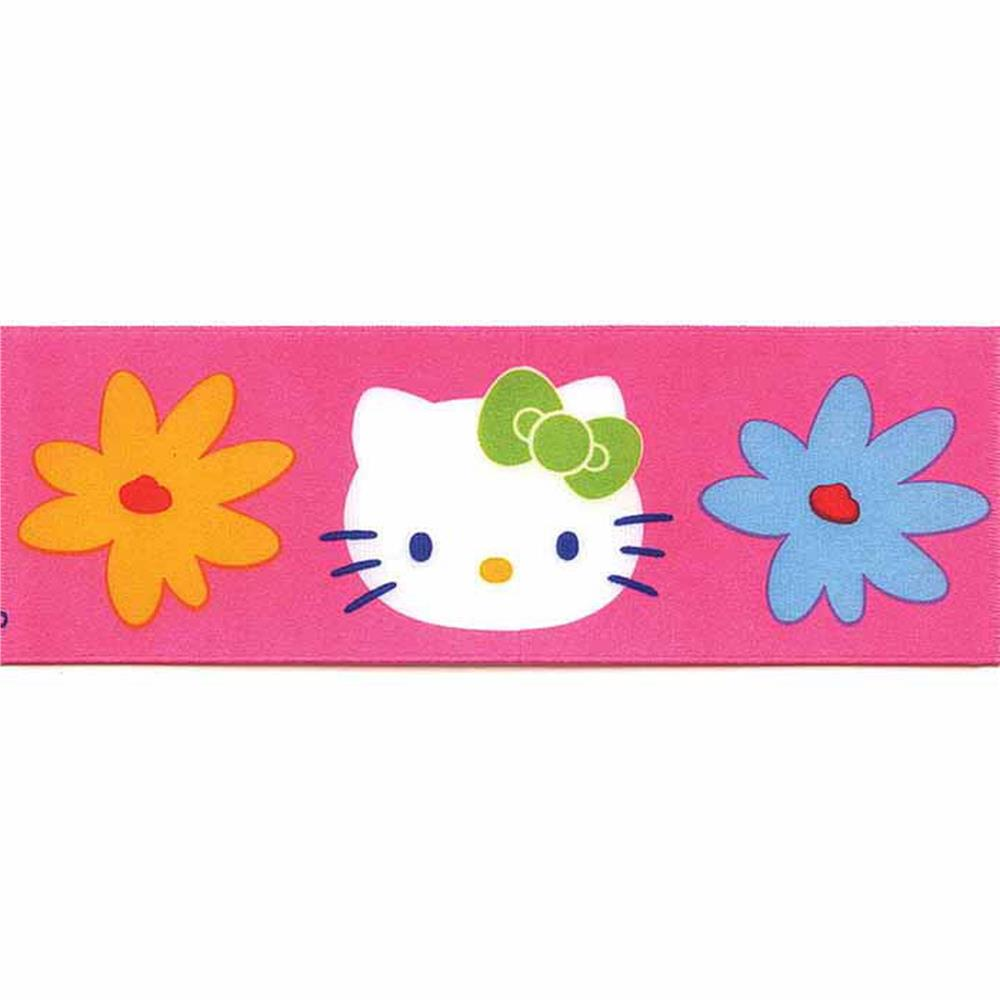 7/8'' Hello Kitty Floral Ribbon Pink