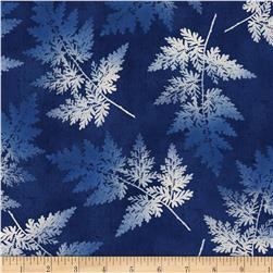 Indi-glow Ferns Allover Blue