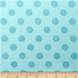Riley Blake Hollywood Sparkle Medium Dot Aqua Fabric