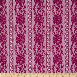 Stretch Fashion Lace Burgundy