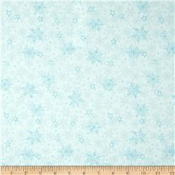 Winter Frost Snowflakes Light Blue