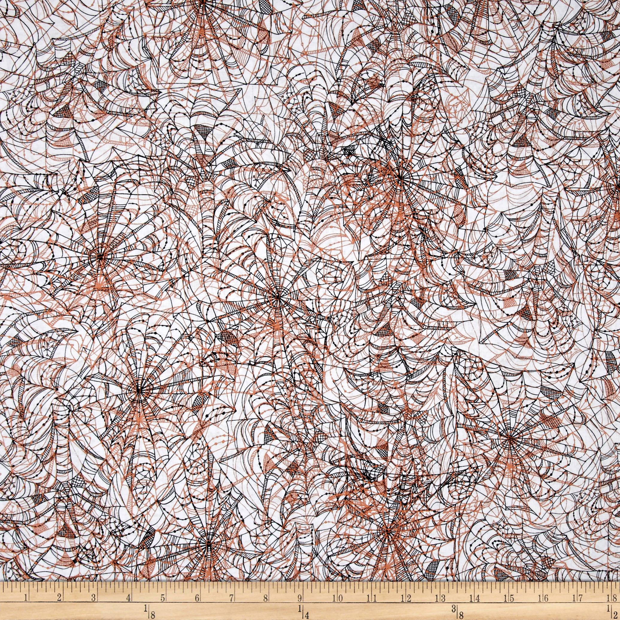 Potions & Spells Metallic Spiderwebs White Fabric by Quilting Treasures in USA